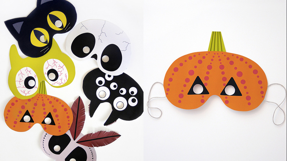 maque a imprimer diy halloween