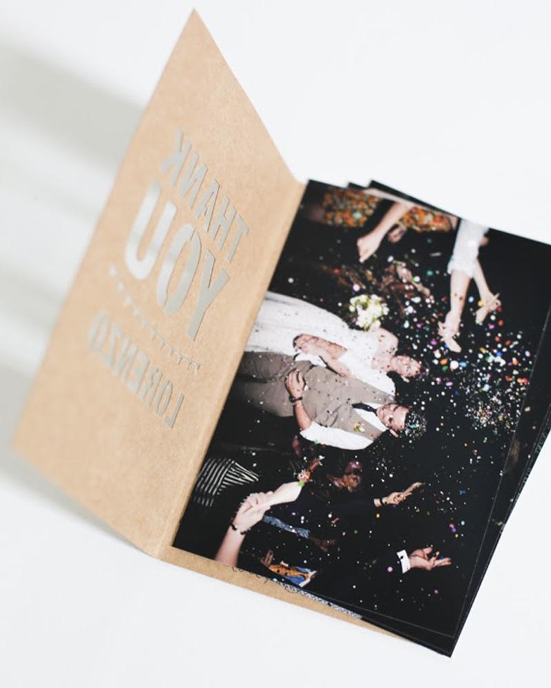 carte remerciement mariage photo diy