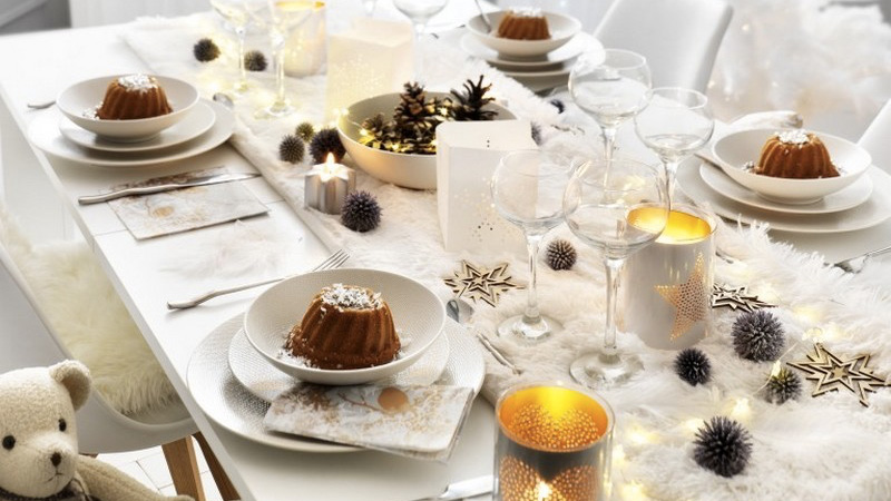 chemin table fourrure diy Noël