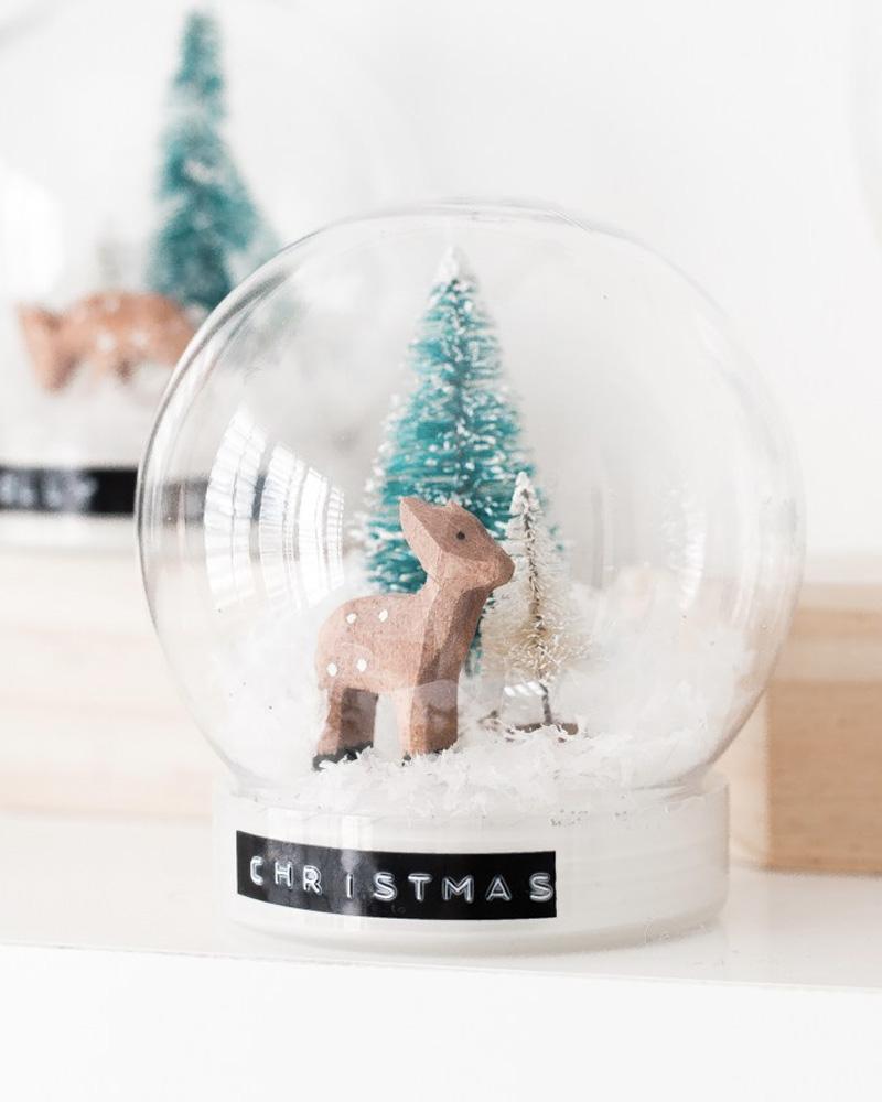 globe neige diy noel
