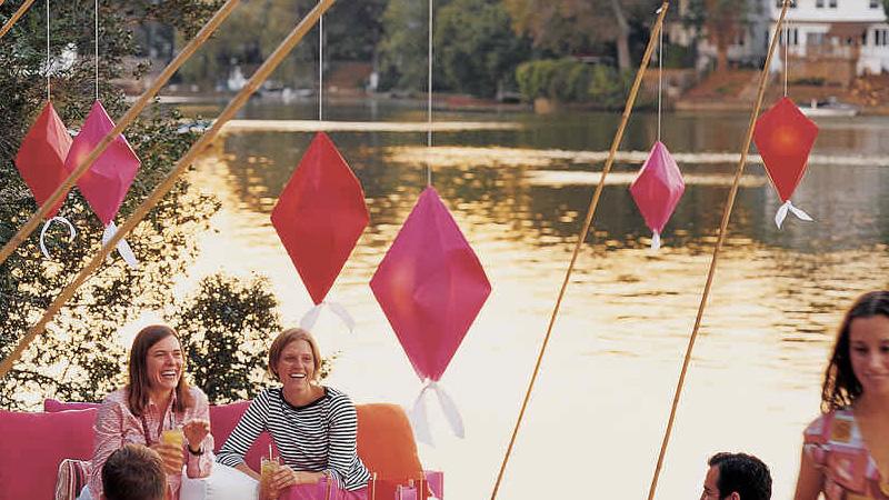lanterne origami diy jardin