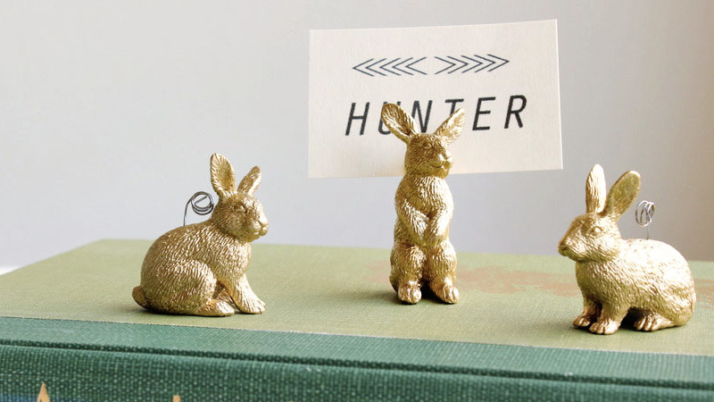 marque place lapin diy paques