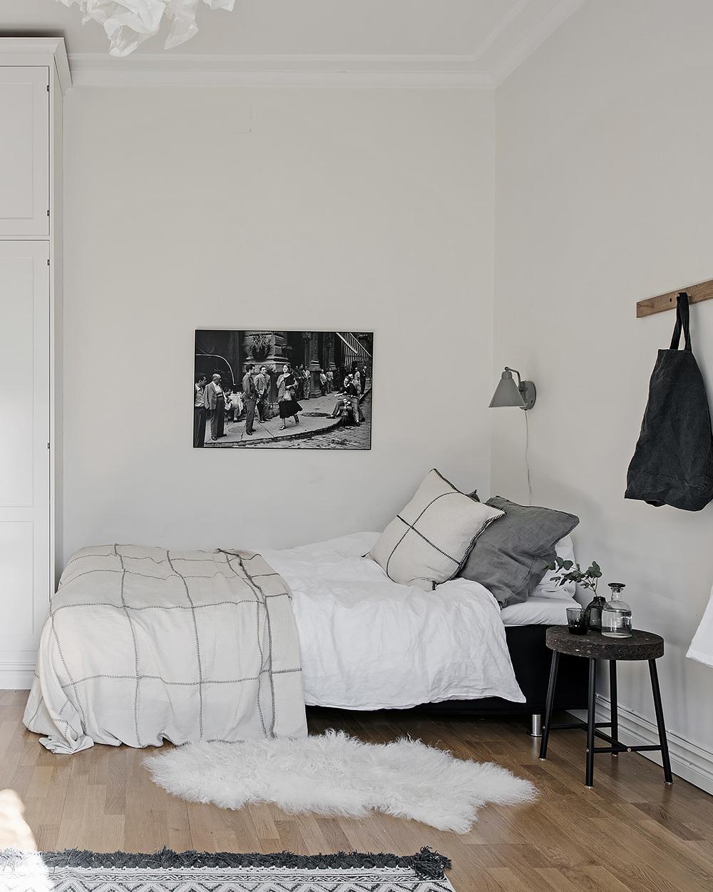 deco chambre dans studio nordique