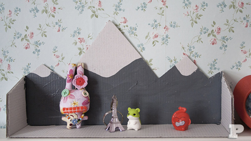 étagère murale carton diy