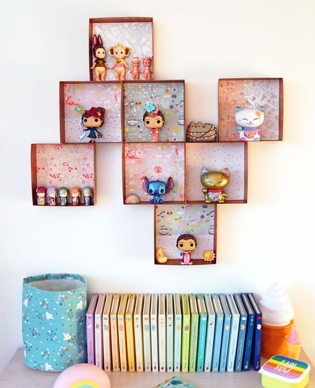 étagère murale carton diy boîte