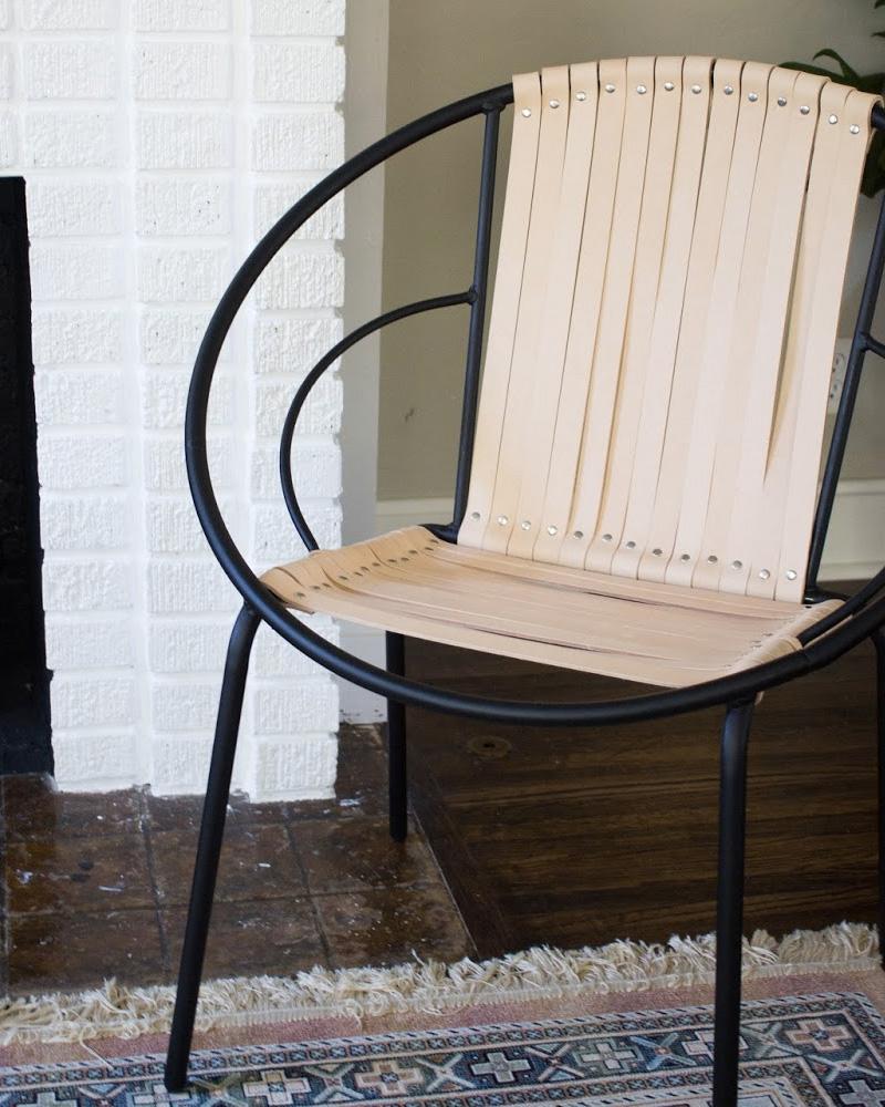 fauteuil cuir diy