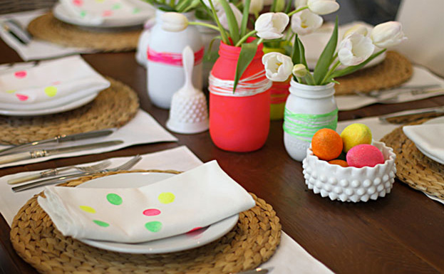 deco table fluo paques