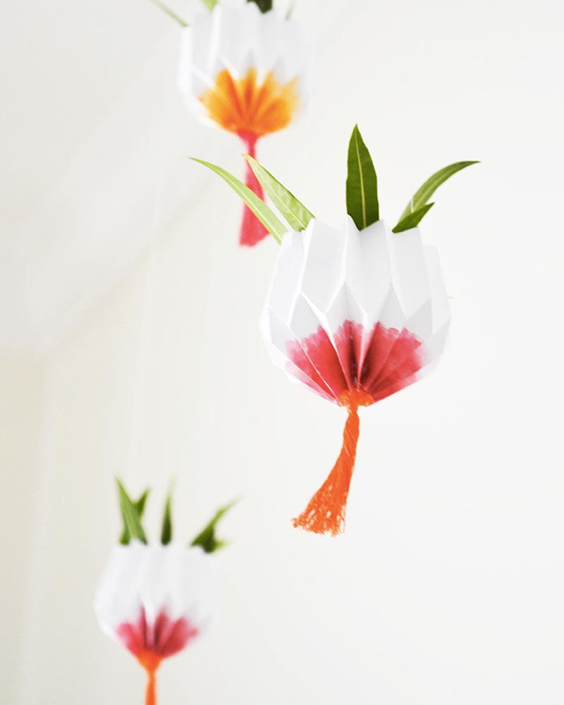 jardin pot suspendu papier diy
