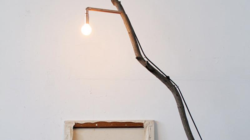 lampadaire diy branche
