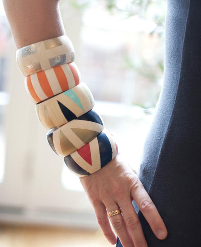 bracelet jonc bois diy ethnique