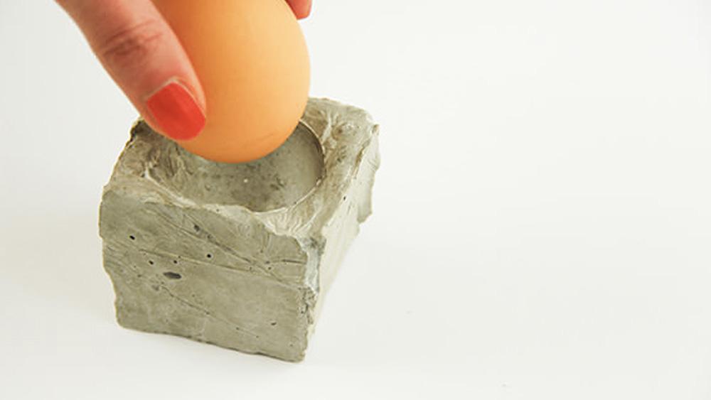 coquetier beton diy