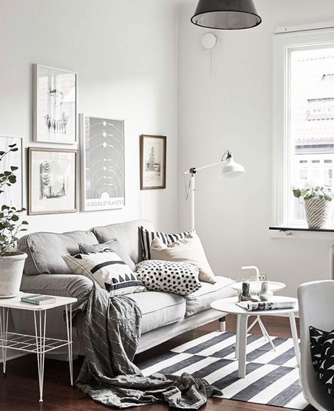 deco scandinave salon gris