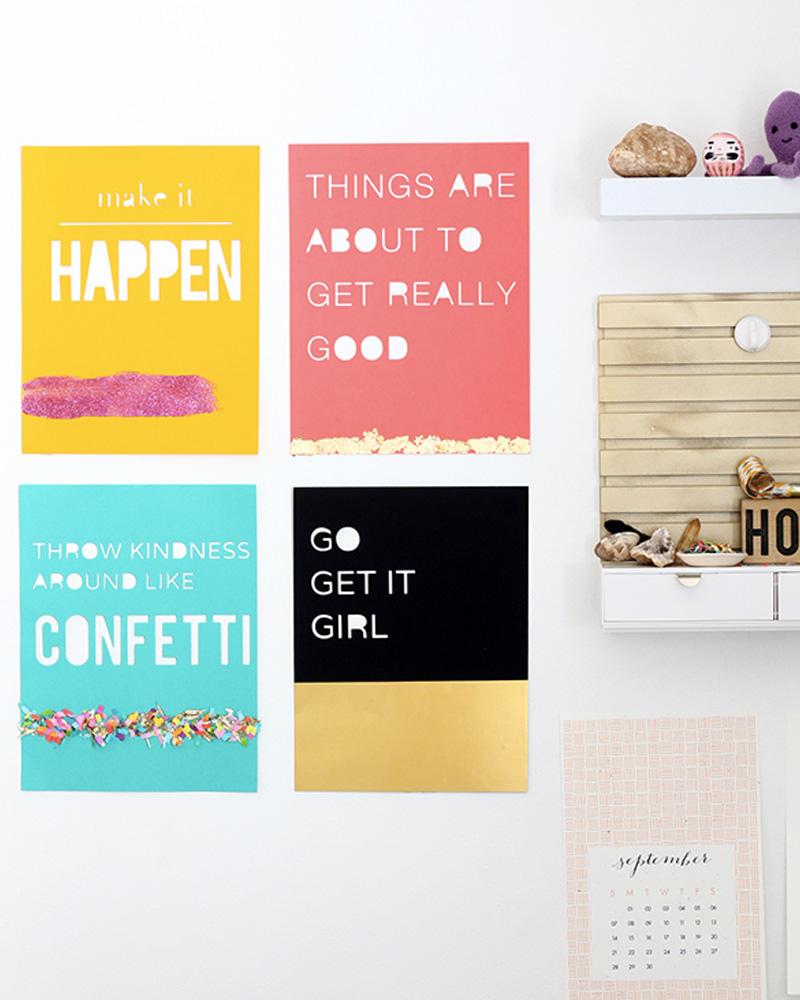 affiche typographique diy