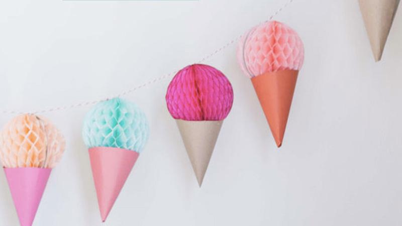 guirlande cone glace enfant diy