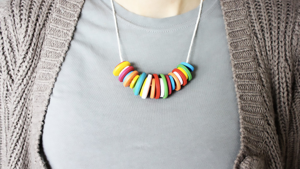 collier bouton diy
