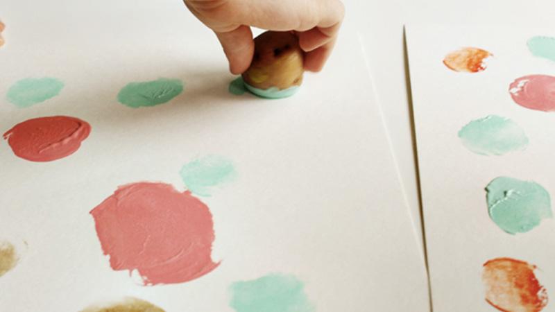 peinture pomme de terre diy enfant