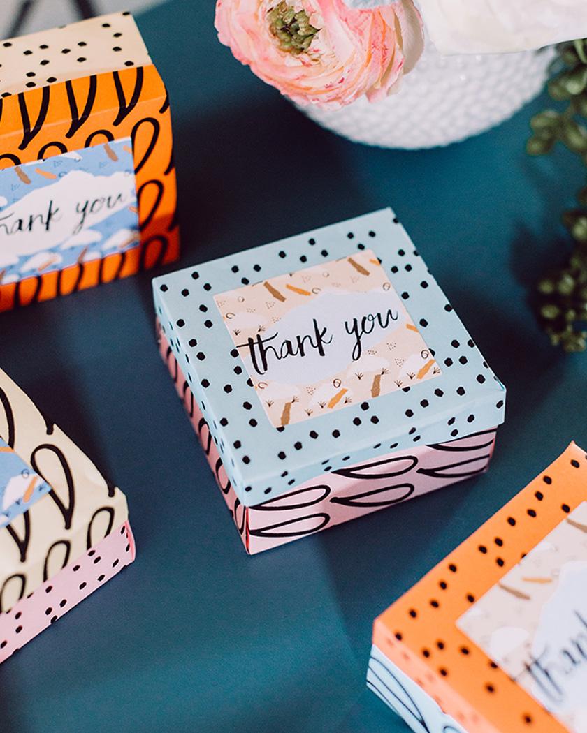 cadeau invite diy mariage boîte origami