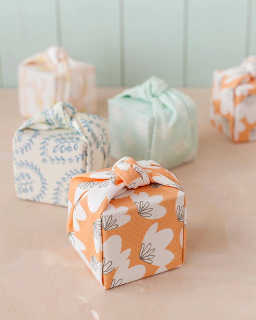 cadeau invite diy mariage paquet tissu