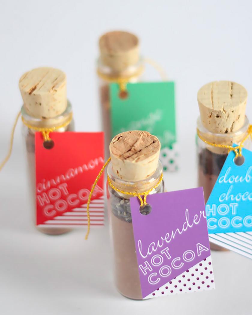 cadeau invite diy mariage chocolat chaud