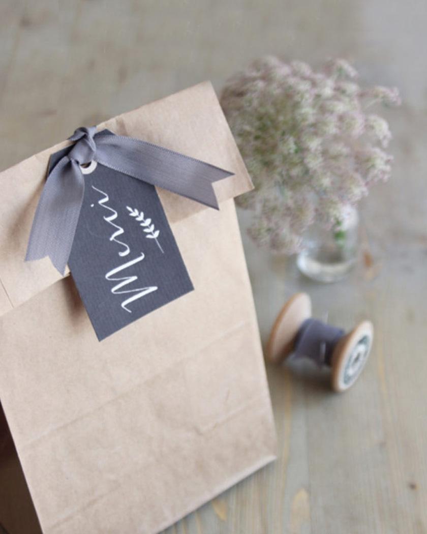 cadeau invite diy mariage étiquette ardoise