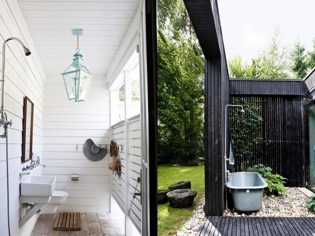douche extérieur jardin