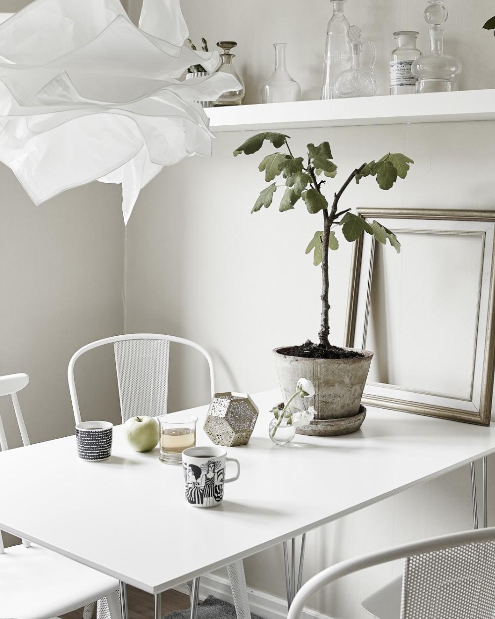 salle à manger déco blanche