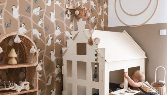 deco murale papier peint ferm living enfant