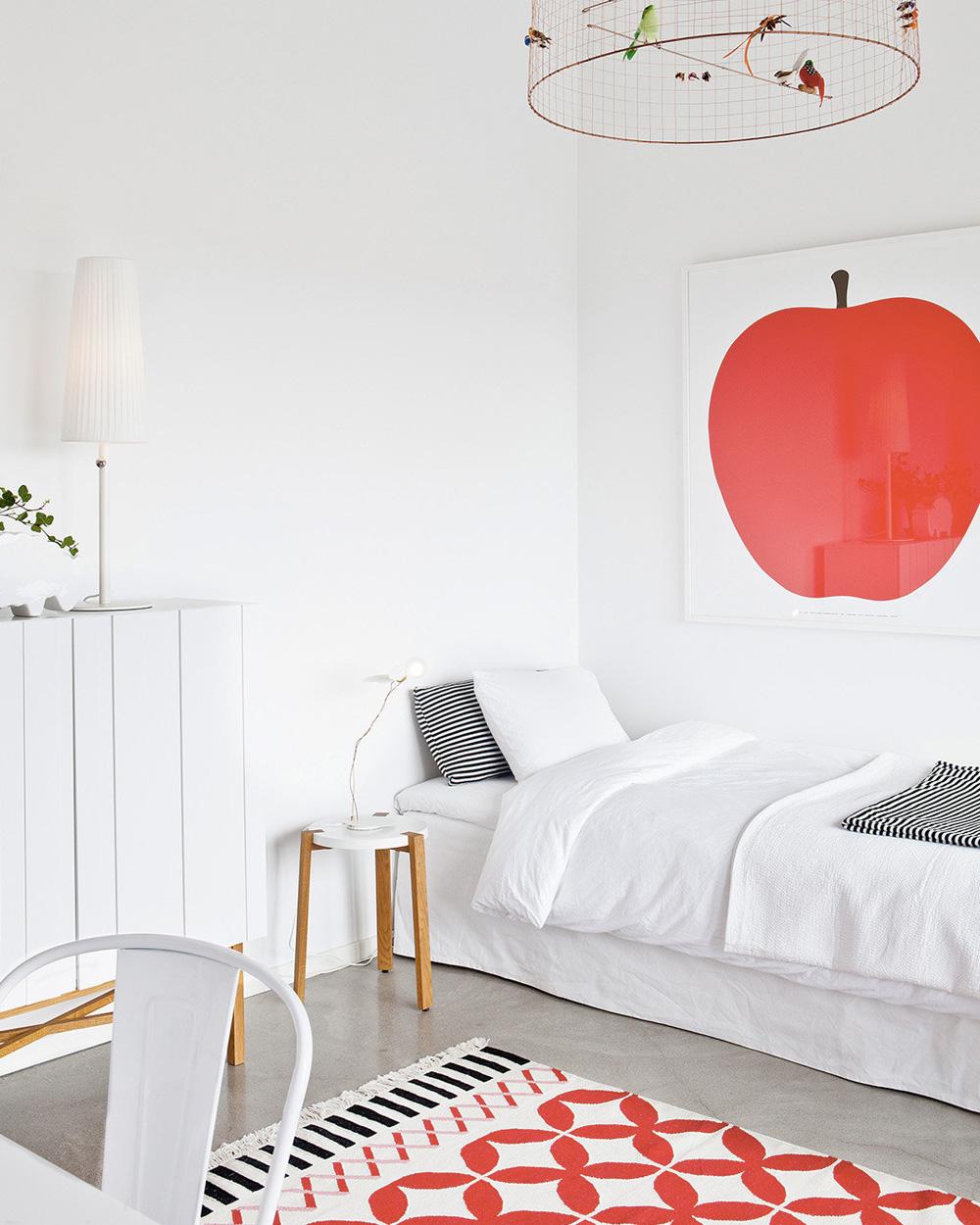deco chambre enfant tapis rouge