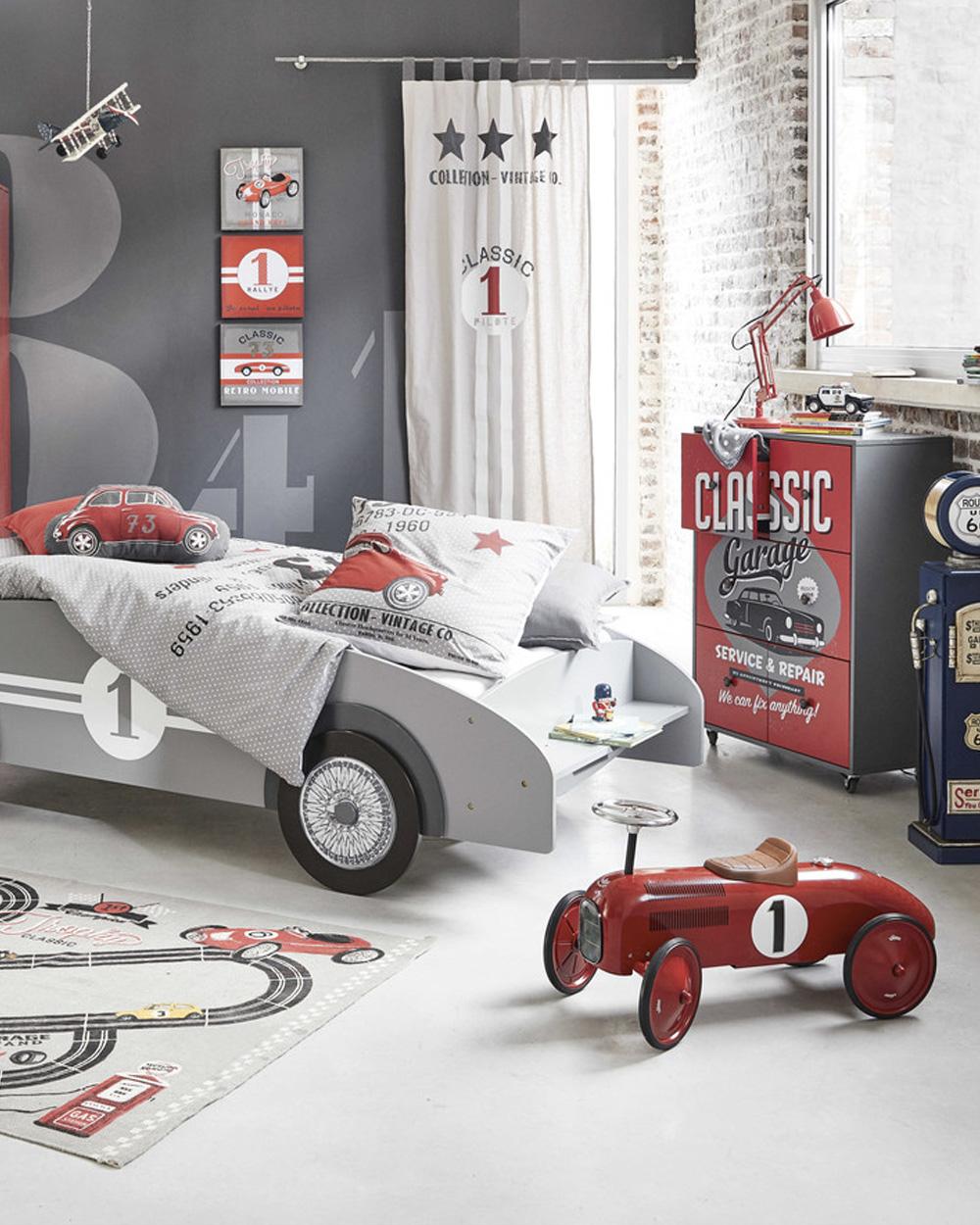voiture pour enfant rétro rouge