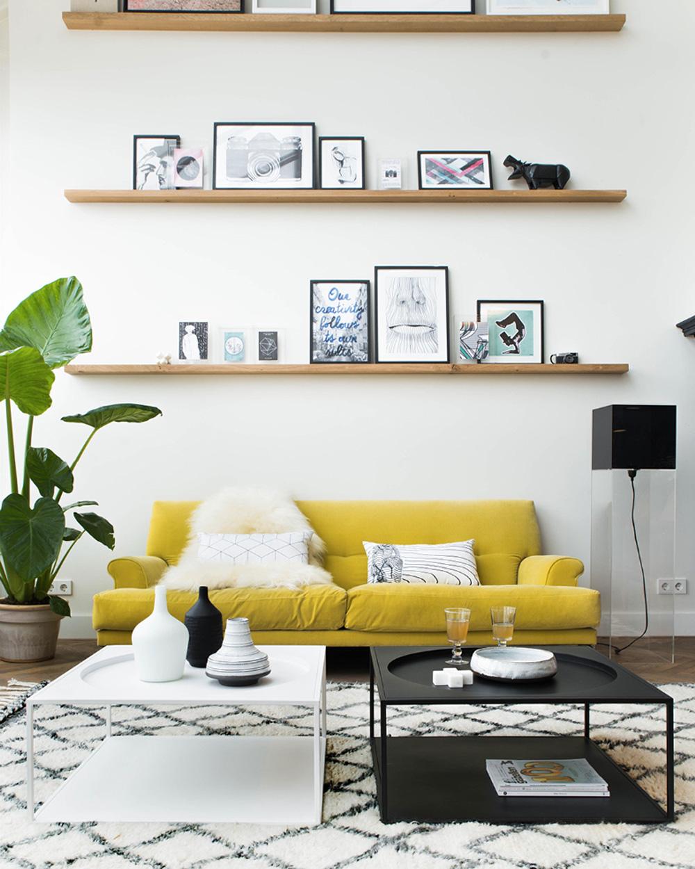 Salon Noir Blanc Jaune une déco en noir et jaune | shake my blog