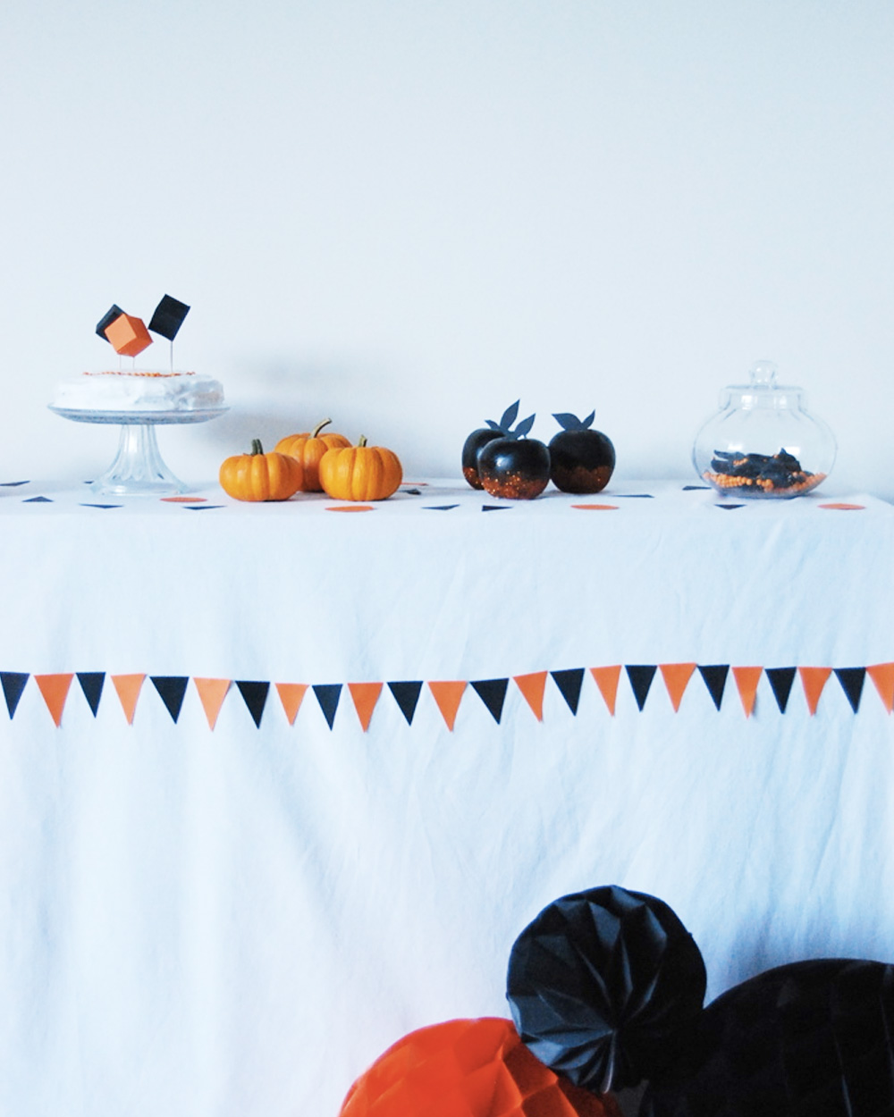 diy deco halloween nappe triangle