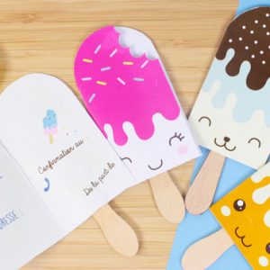 invitation glace diy