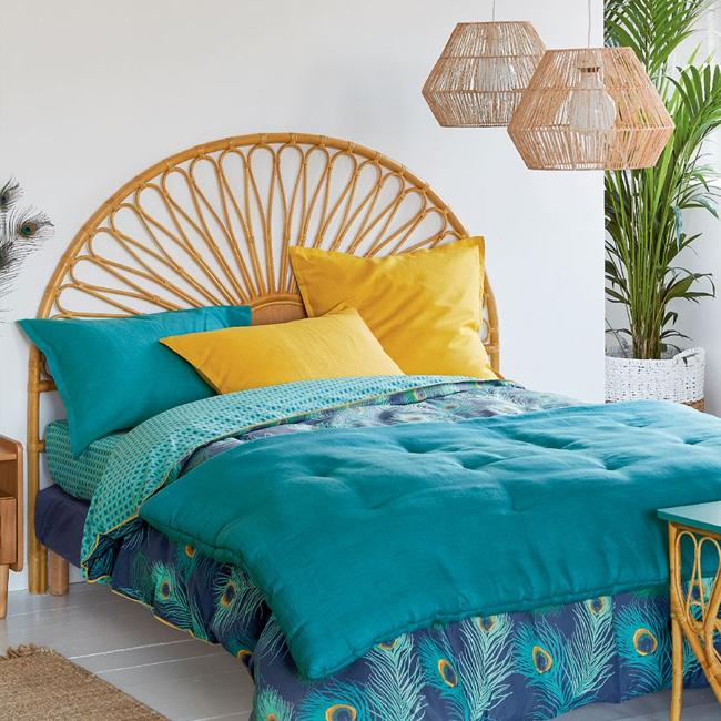 lit rotin vintage enfant tête de lit