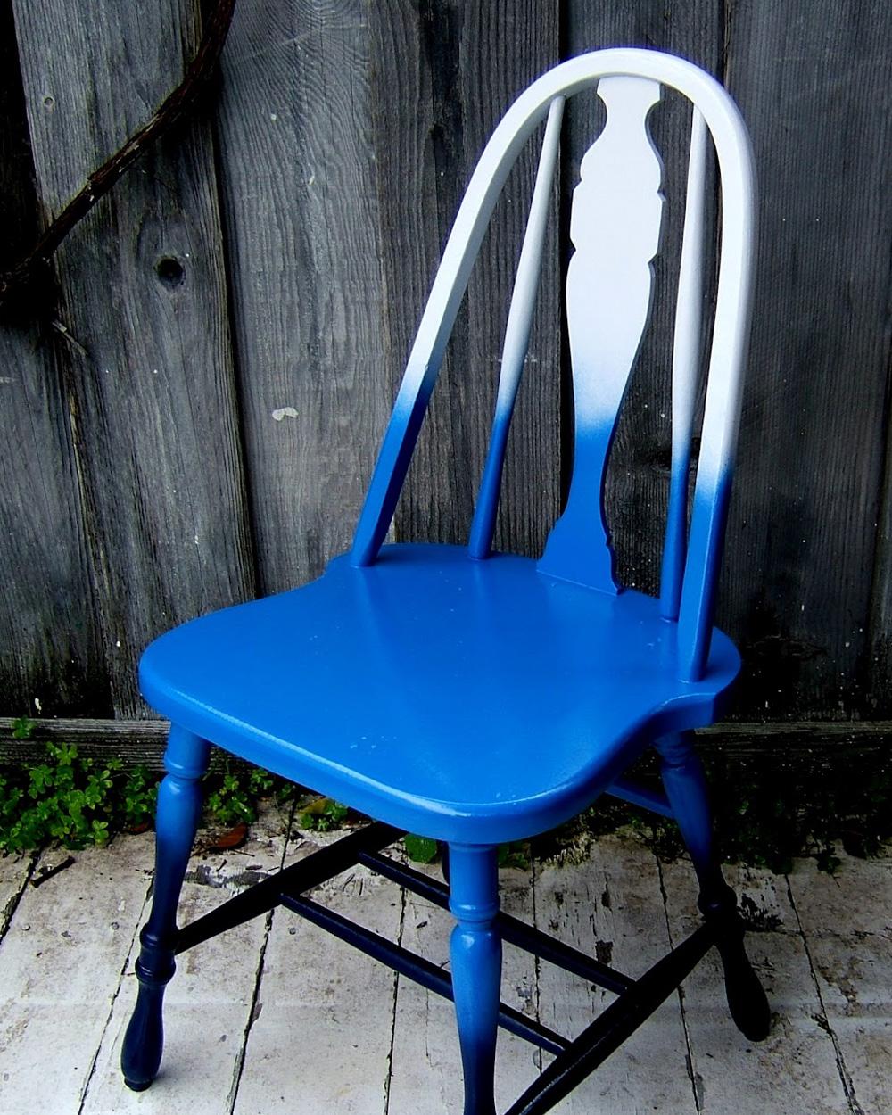 chaise diy dégradé peinture