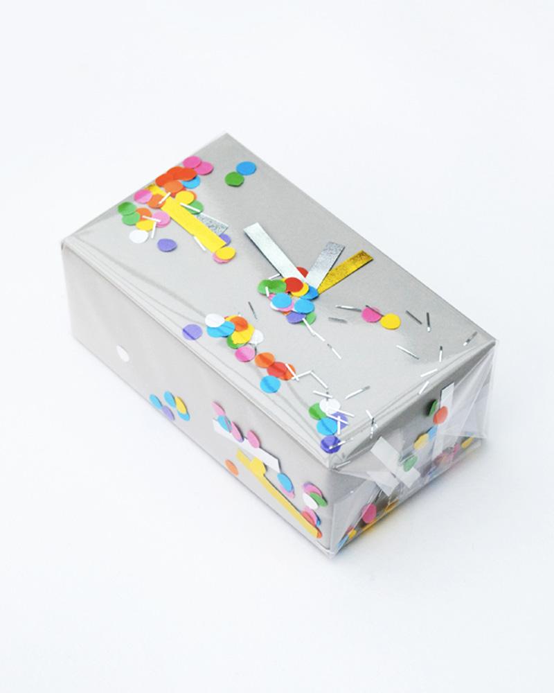 paquet cadeau confetti noel diy