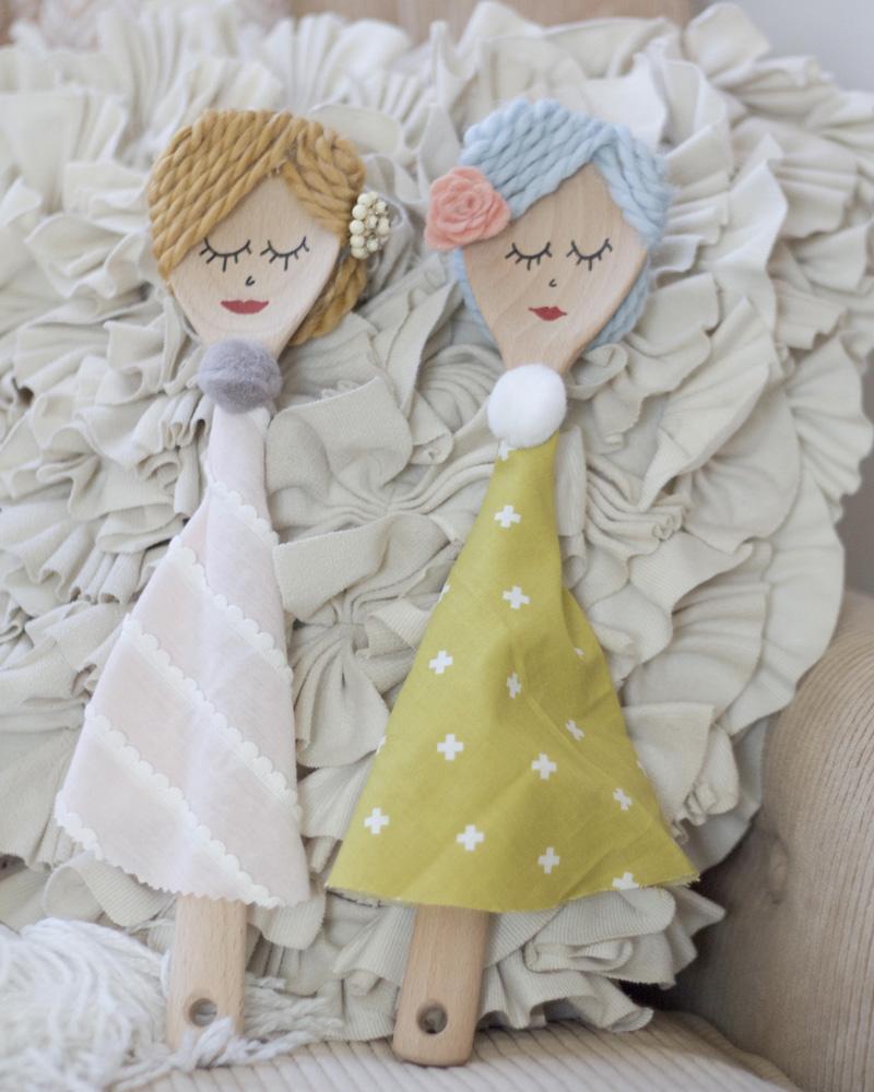 poupées cuillères bois diy