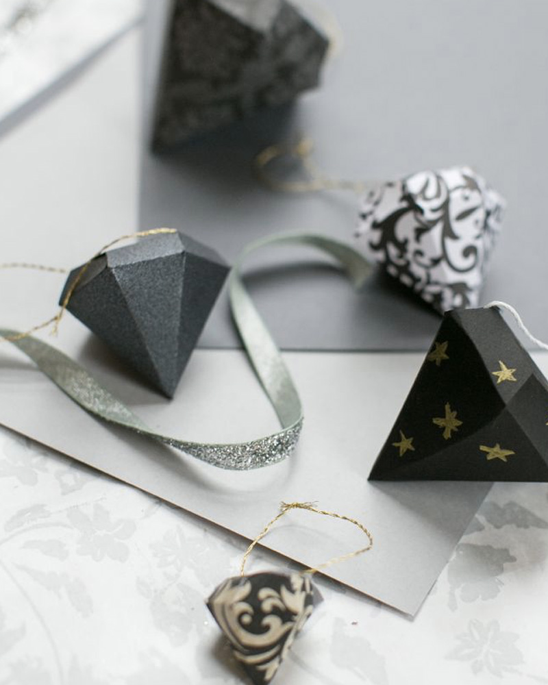 deco sapin diamant diy