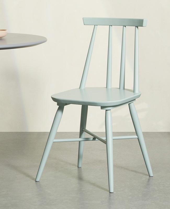 chaise bois vert menthe