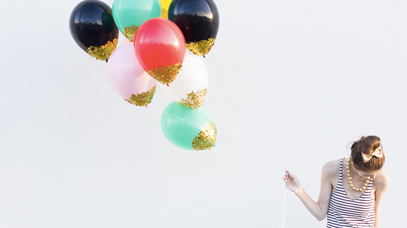 diy ballon paillette