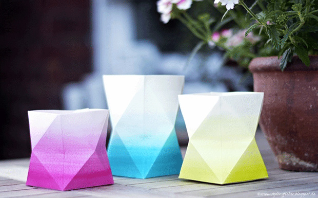 pot geometrique ombre diy