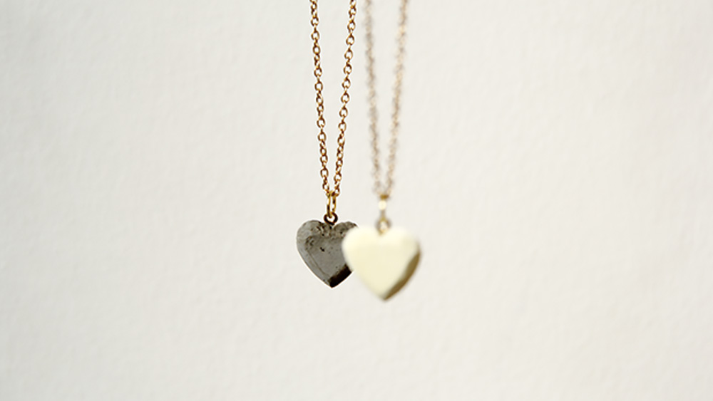 collier coeur beton diy