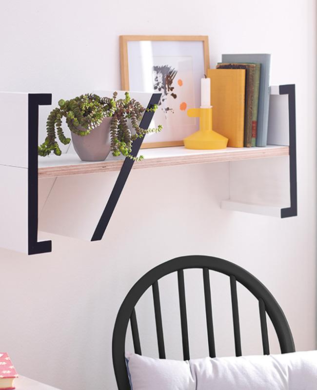 étagère murale graphique design diy