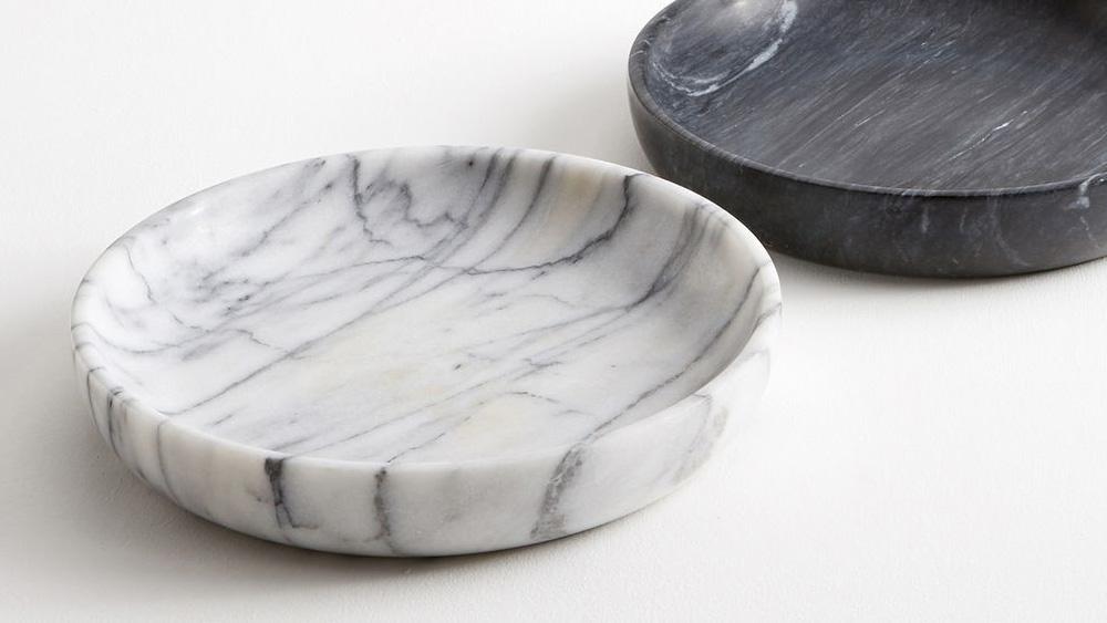 plat marbre blanc