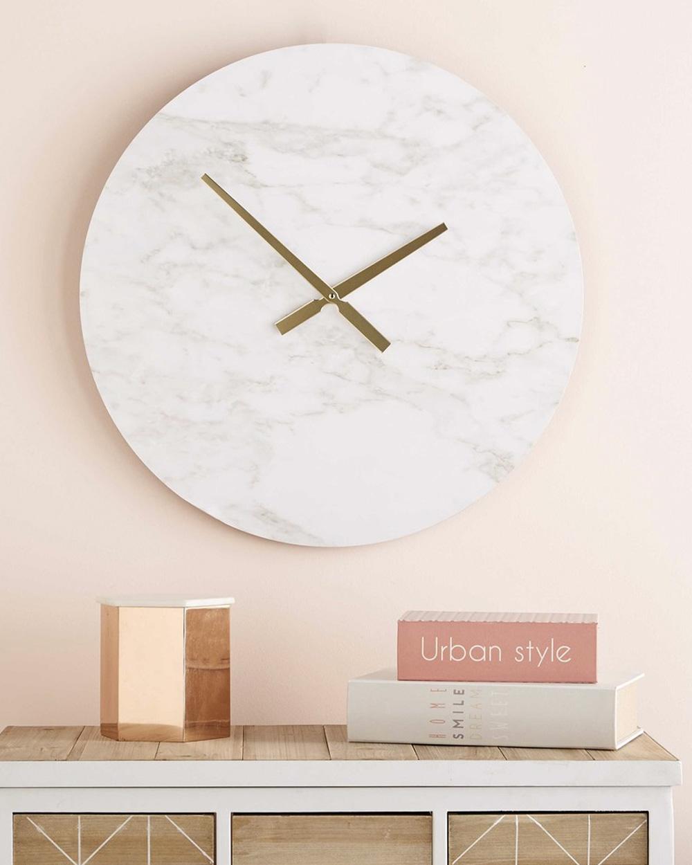 horloge murale marbre