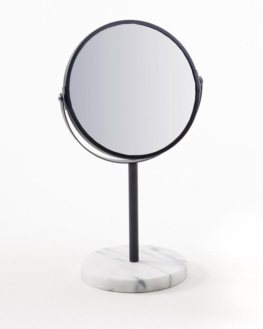 miroir rond marbre