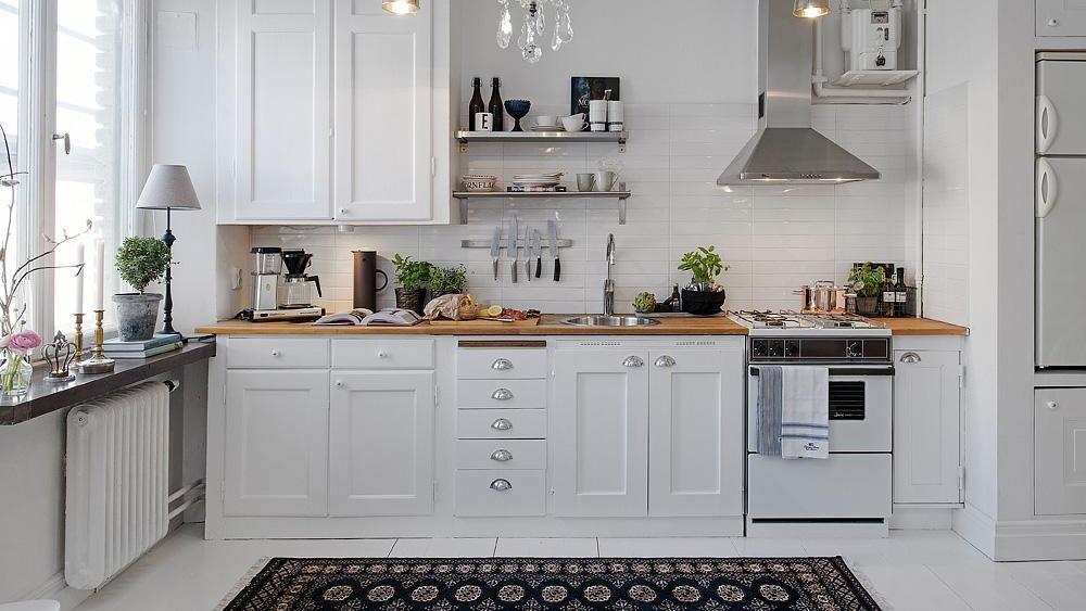 cuisine deco blanc et bois