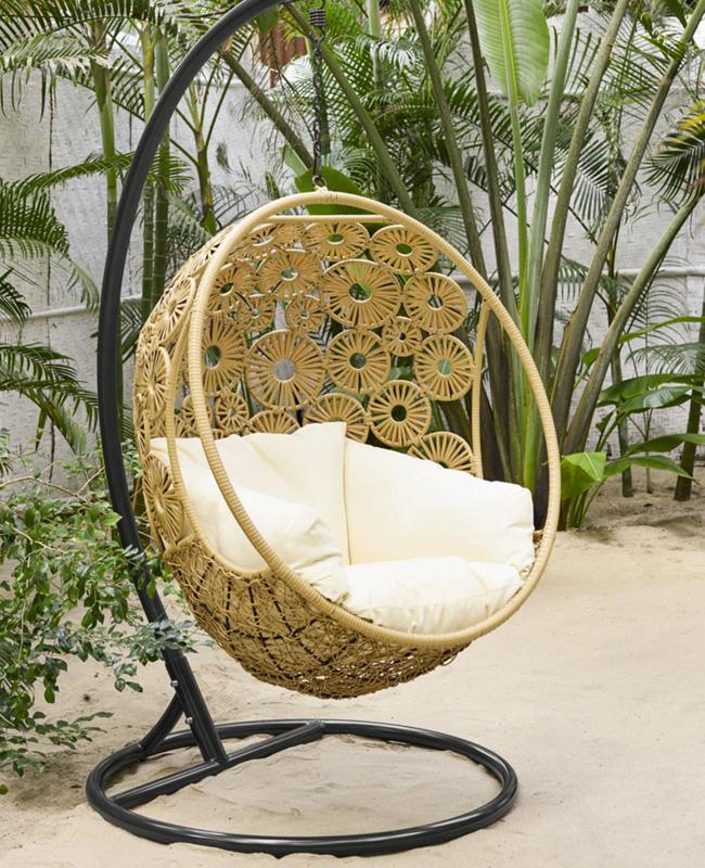fauteuil suspendu jardin rotin