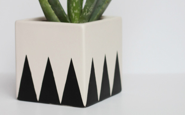pot geometrique diy
