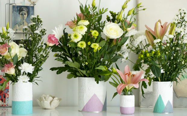 vase platre diy