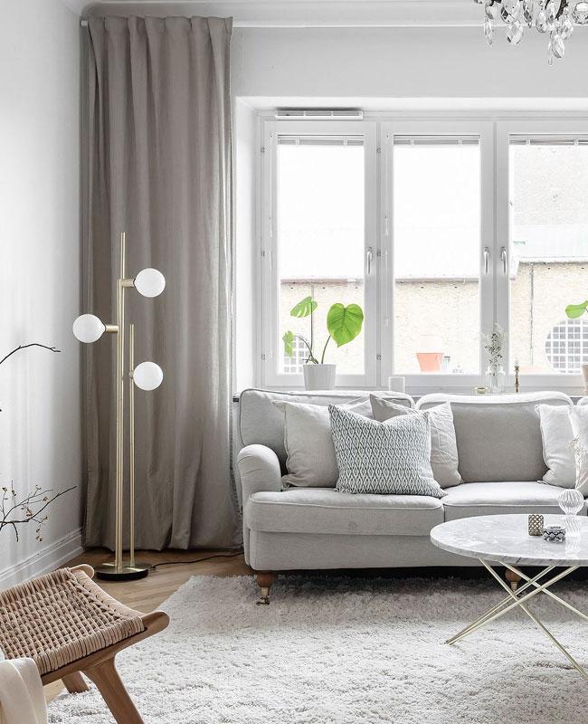 deco salon blanc bois clair scandinave